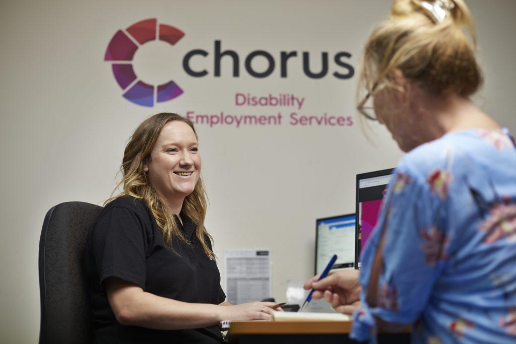 DES customer talking to Chorus consultant