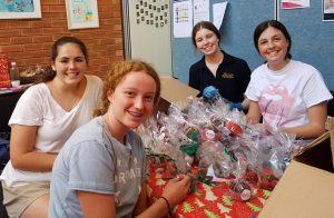 Santa Maria School Volunteers at Chorus Kitchen