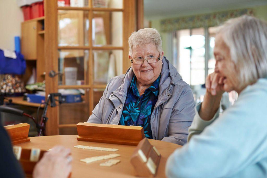 older ladies playing a game