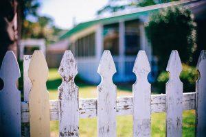Neighbourhood fence in the community
